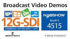Semtech Exhibits Award-Winning Broadcast Video Platform at 2017 NAB Show Innovative video and signal integrity demonstrations to showcase world-class solutions for next-generation broadcast equipment