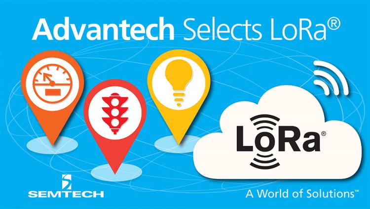 Semtech LoRa™ Wireless RF Technology Selected for Advantech's M2.COM Internet of Things Sensor Platform