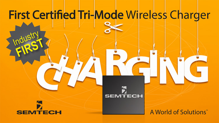 Semtech Demonstrates Industry's First Certified Tri-Mode Wireless Charger at the AirFuel Alliance Members Meeting