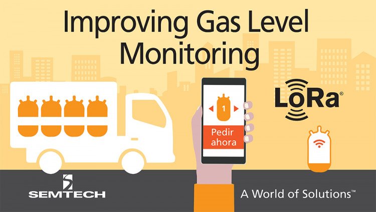 Semtech's LoRa Wireless RF Technology Integrated in IoT Gas Level Monitoring Sensor Butano24 adopts LoRa Technology to improve cost and efficiencies in the utility industry
