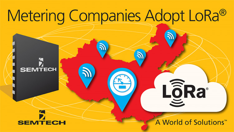 Semtech LoRa™ Wireless RF Technology Adopted by Metering Companies throughout China LoRa RF technology's unique feature set offers cost-optimized, scalable solution for automated metering services
