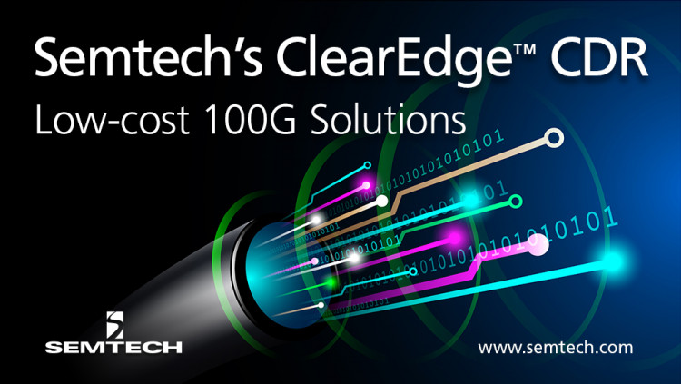 Semtech ClearEdge™ CDR Platform Enters Initial Production for Data Center Applications ClearEdge GN2105 is a quad CDR with integrated DML laser driver for chip-on-board and passive TOSA applications