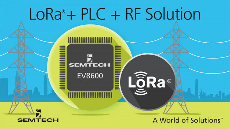 Semtech Announces the Industry's First Single Chip Hybrid PLC and LoRa® Wireless Platform for Smart Grid, Smart Metering and IoT Applications The EV8600 PLC+RF+LoRa Platform enables dual Phy AMI Networks with wireless capability