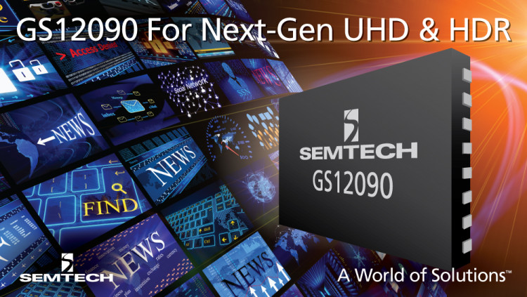 Semtech Launches Retiming Cable Equalizer and Cable Driver for Next-Generation Ultra-High Definition and High Dynamic Range Applications at IBC 2016 Semtech's IBC 2016 product showcase highlights the advanced GS12090 for next-generation UHD and HDR broa