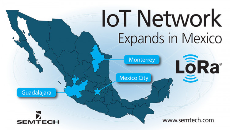 Semtech's LoRa Technology Featured in Nationwide IoT Network Roll-Out in Mexico LORIOT and Tangerine Electronics to implement LoRaWAN™ networks in three major cities in Mexico
