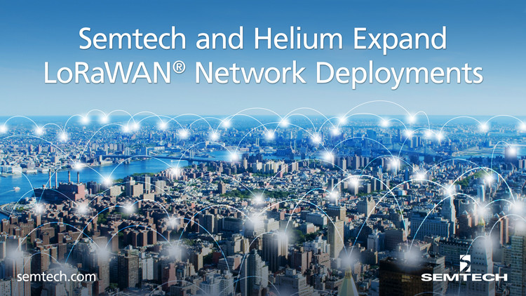 Semtech and Helium Expand Network Deployments