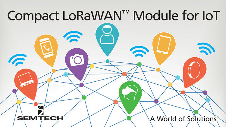 Semtech LoRa® RF Technology for IoT Used in Compact Wireless Module from Murata Low cost module equipped with a LoRa SX1276 transceiver caters to IoT and M2M applications, including smart metering, wearable devices and tracking solutions