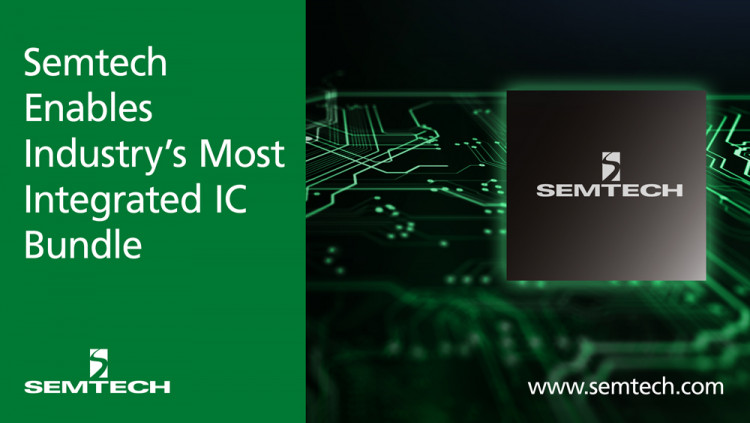 Semtech Enables Industry's Most Integrated and Lowest Power IC Bundle for Data Center and Wireless Applications Best in Class CDR with integrated DML laser driver and TIA now in full production