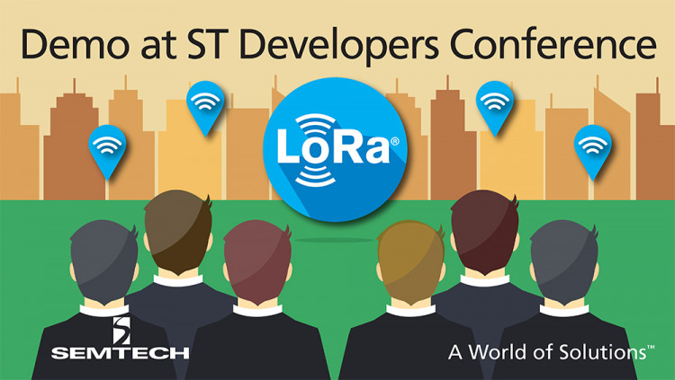 Semtech Demonstrates LoRa® Technology Solution for IoT at ST Developers Conference Semtech's LoRa Wireless RF Technology enables IoT networks and applications worldwide