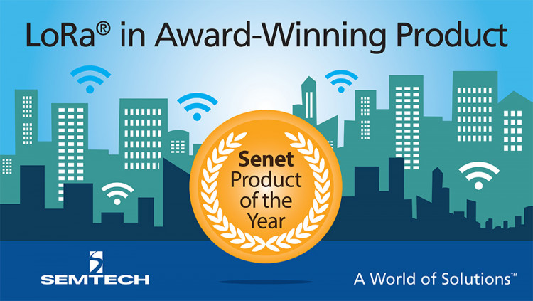 Semtech LoRa® Technology Featured in Senet's Award-Winning Multi-Tenant LPWAN Senet received the 2016 IoT Evolution Product of the Year Award for its LoRa-based LPWAN in North America