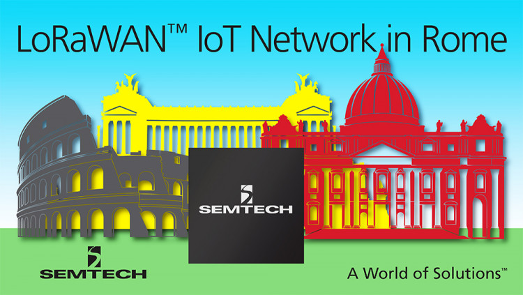 Semtech LoRaWAN™ Technology Platform Enables Internet of Things Network in Rome Telecom Company Unidata will roll out a low power, wide area network in Italy and launch laboratory to encourage education and adoption of LoRaWAN™