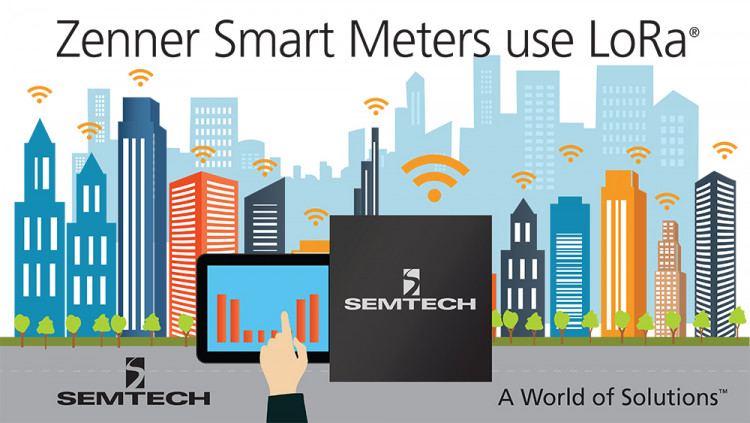 Semtech LoRa® Wireless RF Platform Used in Zenner Smart Measuring Solutions for the Internet of Things Semtech and Zenner technologies expect to accelerate integration of metering and intelligent building solutions with low power, wide area networks inte