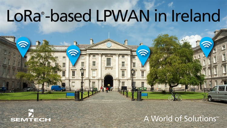 Semtech LoRa Technology to Enable Ireland's Nationwide IoT Network Ireland's LoRa-based network, Pervasive Nation, aims to accelerate the advancement of IoT technology and support new applications
